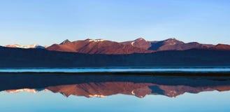 Tso Kar salt water lake in Ladakh, North India Royalty Free Stock Images