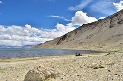 Tso Moriri озера Стоковая Фотография RF