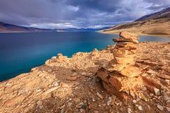 Tso Moriri озера Стоковое Изображение RF