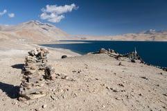 Tso Moriri озера, Ladakh, Индия Стоковые Фотографии RF