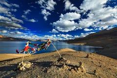 TSO Moriri, Ladakh, la India Fotografía de archivo libre de regalías