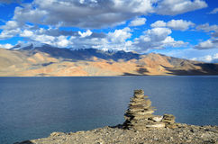 Tso Moriri lake in Himalayas Royalty Free Stock Photography
