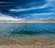Tso Moriri lake in Himalayas, Ladakh, India Royalty Free Stock Photos