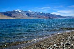 Tso Moriri lake in Indian Himalayas Royalty Free Stock Photo