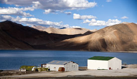 Tso-moriri lake in Ladakh, India. The lake lies at an altitude of 4600 meters on the Himalayas Royalty Free Stock Images