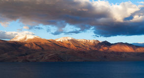 Tso Moriri Lake in Ladakh, India Stock Photo
