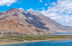Tso Moriri lake in Ladakh, Jammu and Kashmir, India. Stock Photo