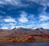 Tso Moriri lake in Ladakh, Jammu and Kashmir, North India. Stock Images