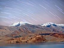Tso Moriri lake night view in Ladakh, North India Royalty Free Stock Photos