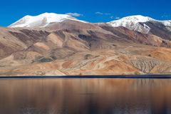 Tso Moriri lake in Rupshu valley Stock Photography