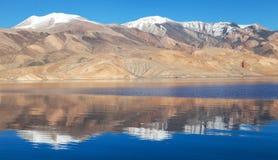 Tso Moriri lake in Rupshu valley - Ladakh Royalty Free Stock Photography