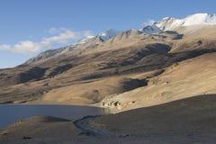 Tso Moriri, mooi toneelmeer in Ladakh stock foto's