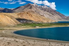 Landscape around Tso Moriri Lake in Ladakh, India Royalty Free Stock Image