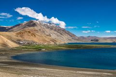 Landscape around Tso Moriri Lake in Ladakh, India Stock Image