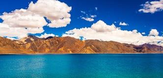 Tso Pangong, красивое гималайское озеро, Ladakh, северная Индия Стоковое фото RF