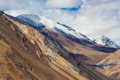 Tso Pangong, красивое гималайское озеро, Ladakh, северная Индия Стоковая Фотография
