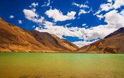 Tso Pangong, красивое гималайское озеро, Ladakh, северная Индия Стоковое Фото