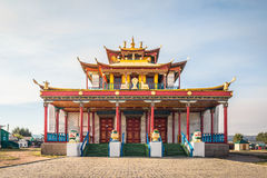 Tsogchen-Arm - the main cathedral church Ivolginsky datsans Royalty Free Stock Images