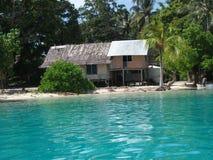 Tsoieiland in de Nieuwe Provincie van Ierland, Papoea-Nieuw-Guinea Royalty-vrije Stock Foto's