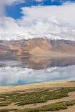 Tsomoriri湖风景  库存图片