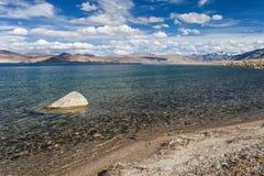 TsoMoriri湖 图库摄影