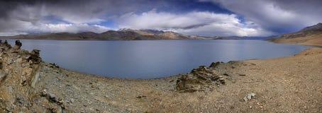Tsomoriri lake. Is in India, Ladakh, in the altitude of 4500 metres over the sea level Royalty Free Stock Photo