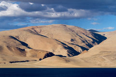Tsomoriri mountain lake panorama with mountains Stock Photography