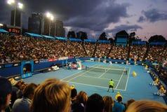 Tsonga v Petzschner à l'Australien ouvrent 2011 Images libres de droits