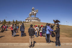 Tsonjin Boldog, 2015年5月, 06 :Genghis K 40米高雕象  免版税库存照片