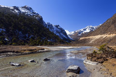 Tsopta dolina, Sikkim. Zdjęcia Stock