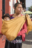 Tsotsil woman with baby in shawl Royalty Free Stock Photography