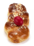 Tsoureki for easter(sweet bread) Stock Photos