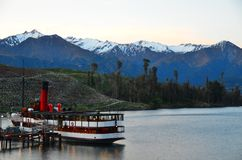 Queenstown Steamship Cruise royalty free stock photo