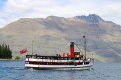 TSS Earnslaw on Lake Wakatipu, New Zealand Royalty Free Stock Photos