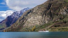 TSS Earnslaw Na Jeziornym Wakatipu Obrazy Royalty Free