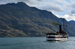 TSS Earnslaw in Queenstown NZ Royalty Free Stock Images