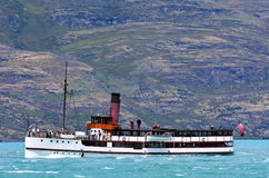 TSS Earnslaw in Queenstown NZ Stock Images