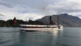 TSS Earnslaw in Queenstown NZ. QUEENSTOWN, NZ - JAN 15:TSS Earnslaw on Jan 15 2014.It's one of the oldest tourist attractions in Otago and the only remaining stock video footage