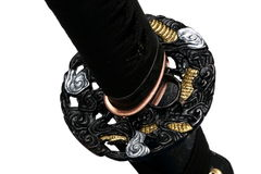 Tsuba : hand guard of Japanese sword Royalty Free Stock Images