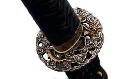 Tsuba : hand guard of Japanese sword royalty free stock image