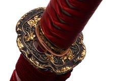 Tsuba: Handschutz der japanischen Klinge lizenzfreie stockfotografie