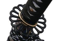 Tsuba: Handschutz der japanischen Klinge lizenzfreies stockfoto