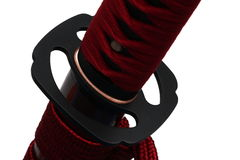 Tsuba: Handschutz der japanischen Klinge stockfotos