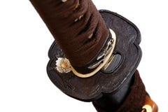 Tsuba: Handschutz der japanischen Klinge stockbilder