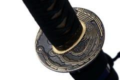 Tsuba: Handschutz der japanischen Klinge stockbild