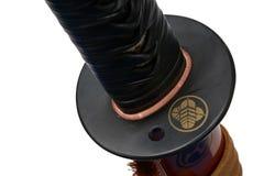 Tsuba: Handschutz der japanischen Klinge Stockfoto
