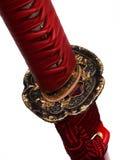 Tsuba: handvakt av det japanska svärdet Arkivbilder