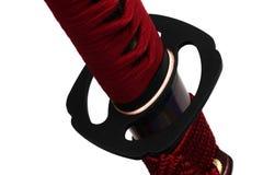 Tsuba: handvakt av det japanska svärdet Royaltyfria Foton