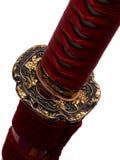 Tsuba: handvakt av det japanska svärdet Arkivfoton