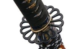 Tsuba: handvakt av det japanska svärdet Arkivbild